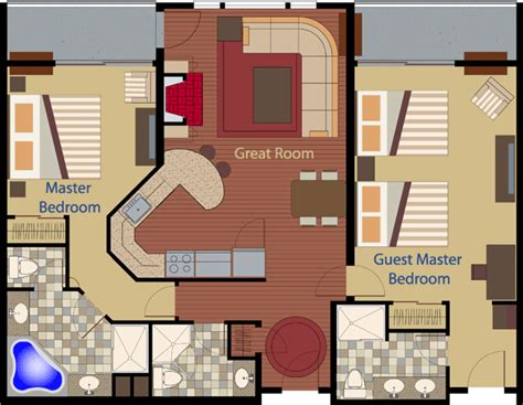 Coastal Cottage Floor Plans by Cape Codder Residence Club Floor Plans Two Bedroom