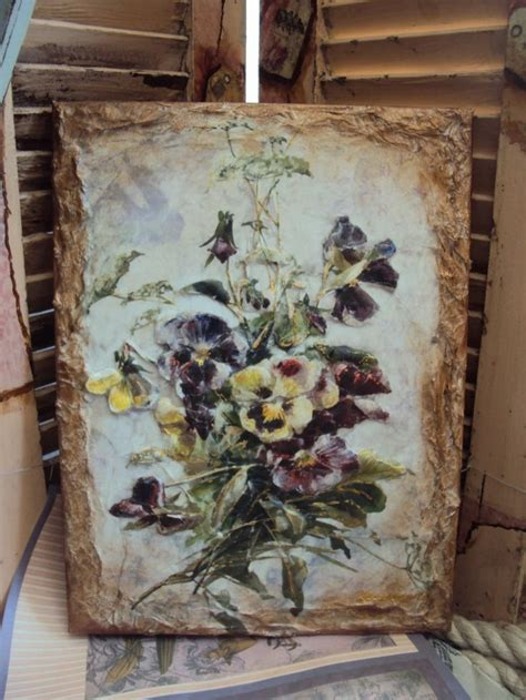 Decoupage On Canvas - decoupage