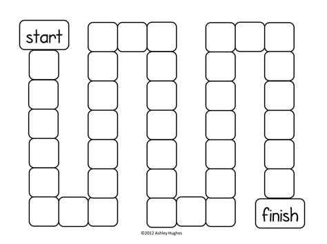 printable sight word board games free game board template game boards for ela letter and