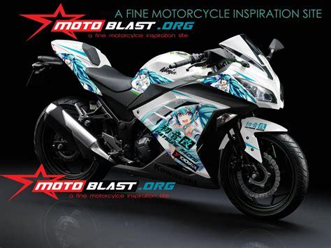 Stiker Tulisan Kawasaki by Modif Striping Kawasaki 250r Fi White Anime