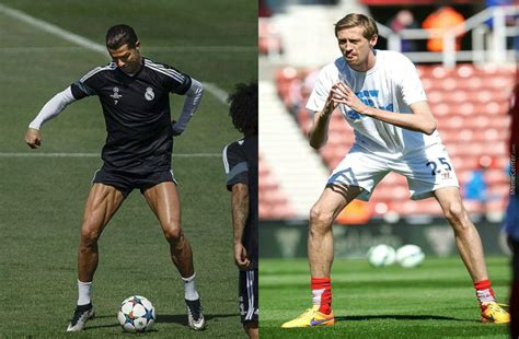 cristiano ronaldo doesn t skip leg day and peter crouch by