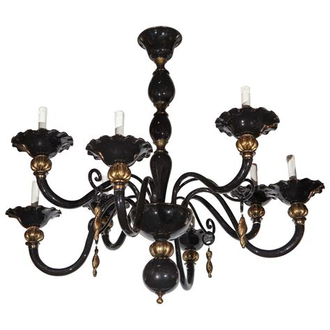 Black And Gold Chandelier Fabulous Black And Gold Murano Chandelier At 1stdibs