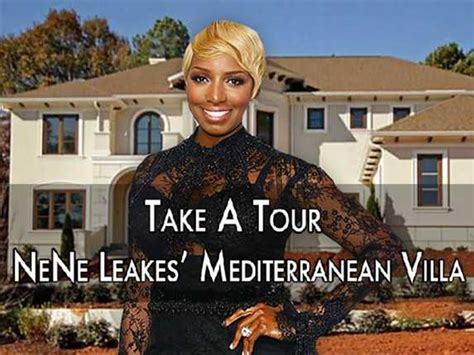 Golf Backyard House Tour Tuesday Peek Inside Nene Leakes Mediterranean