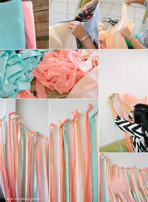 diy backdrop diy fabric ribbon backdrop tutorial pointe of view