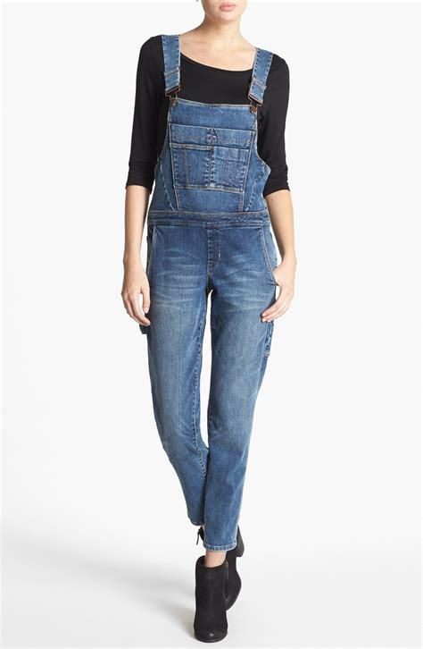 Overall Blue blank denim overalls in blue lyst