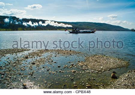 steam boat on coniston gondola steam boat on coniston water lake district england