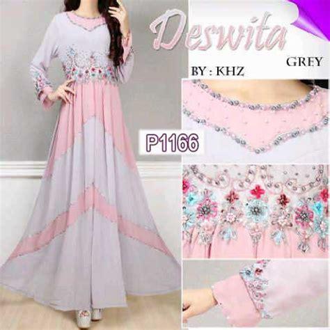Dress Deswita baju muslim deswita sifon p1166 gaun pesta cantik