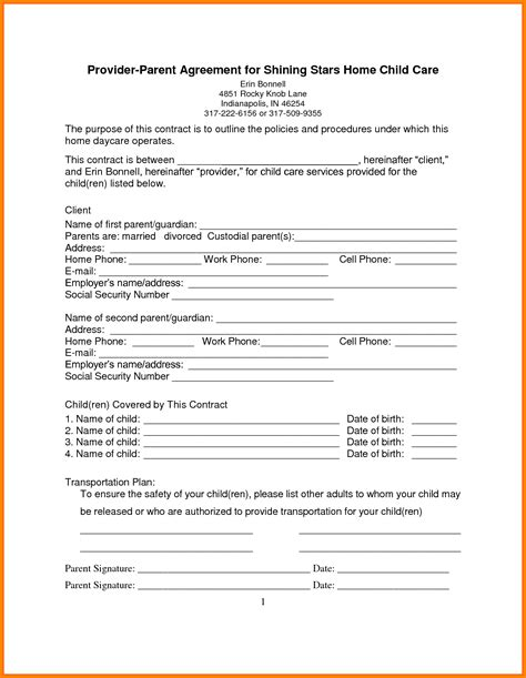 sle construction contract template at home child care contract template ftempo