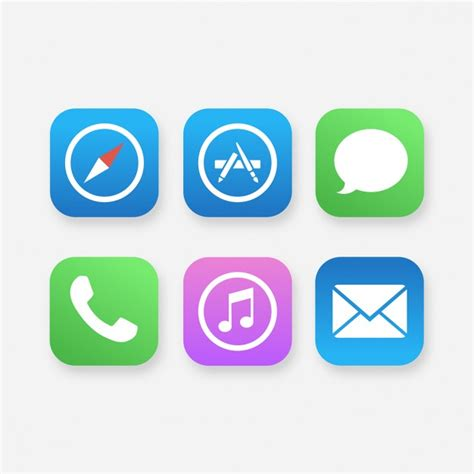 mobile free app mobile app icons vector free