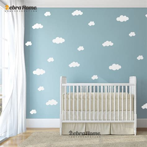 wallpaper for nursery aliexpress com buy diy white cloud wall stickers baby