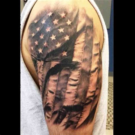 black and white flag tattoo american flag tattoos shoulder american images