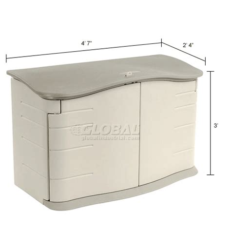 Rubbermaid Resin Slide Lid Shed by Buildings Storage Sheds Sheds Plastic Rubbermaid Horizontal Storage Shed Fg374801olvss 47