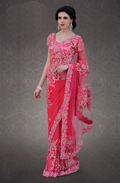 Pink Saree modern sarees pink www imgkid the image kid has it