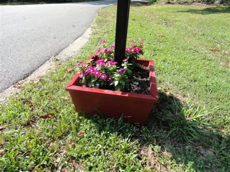Mailbox Post Planter by Base Mailbox Planter Posts Awesome And Etsy
