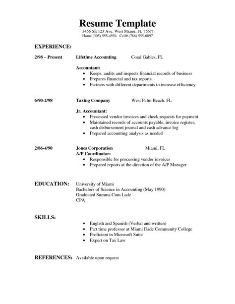 resume format simple resume template