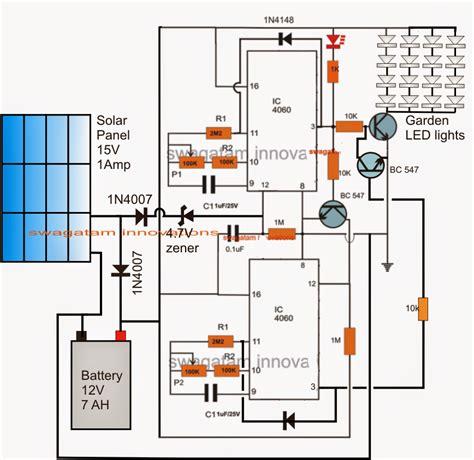How To Make A Solar Garden Light With Programmable Timer Solar Garden Light Circuit