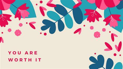 canva desktop floral desktop wallpaper templates canva