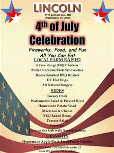 our july 4th party menu seasonal small plates lincoln