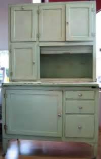 Antique Hoosier Cabinet For Sale Green Hoosier Cabinet Baking Hutch Lot 37260