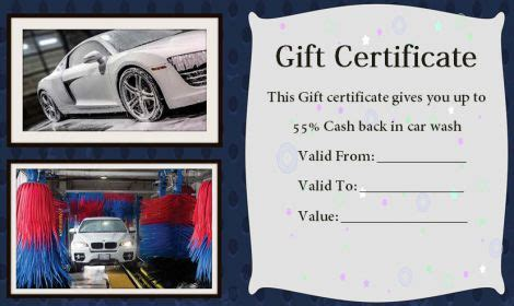 free car wash ticket template 16 personalized auto detailing gift certificate templates