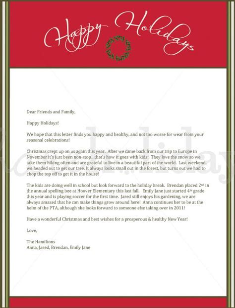 33 Christmas Letter Templates Free Psd Eps Pdf Format Download Free Premium Templates Merry Business Letter Template