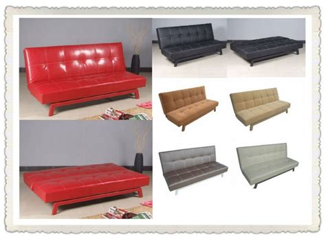 china high quality black leather futon wholesale leather