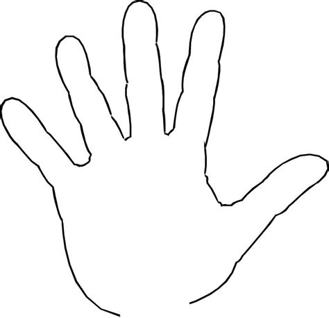 handprint template print template clipart best clipart best