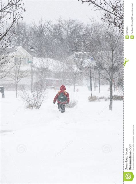 school in snow royalty free stock image image school boy walking snow royalty free stock