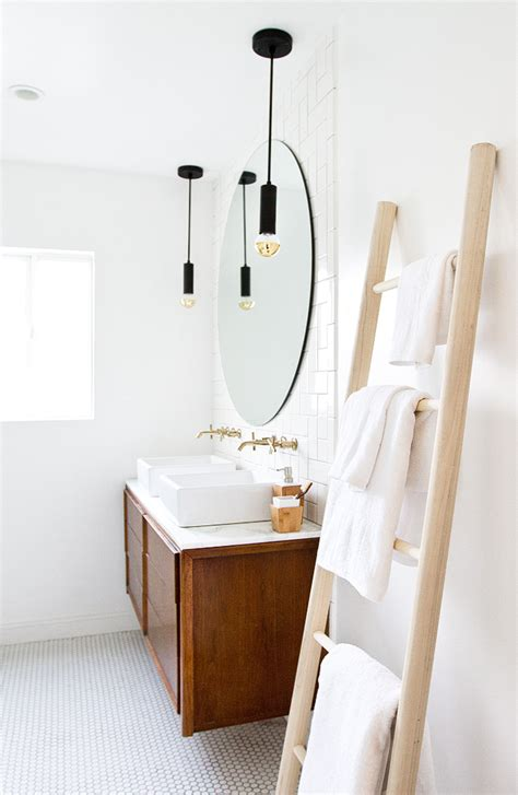 towel ladders for bathrooms sarah sherman samuel bathroom refresh diy towel ladder