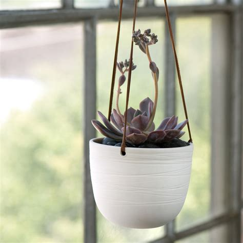 indoor hanging planters scribble hanging planter traditional indoor pots and planters by pigeon toe