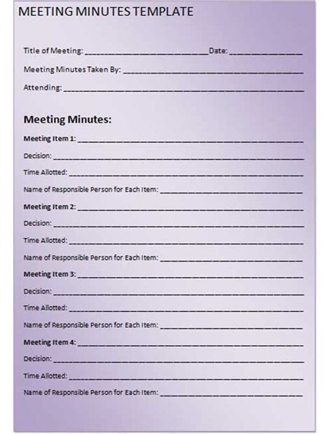 meeting notes template excel construction progress meeting minutes