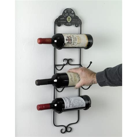 metal wall wine rack quot cave a vins quot wall mounted wine rack black country metal