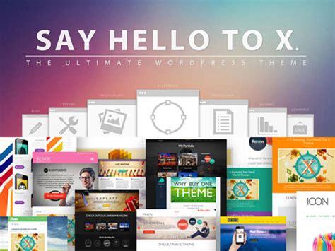 wordpress theme x vs theme wordpress x