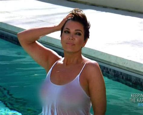 wet shirt kris jenner topless wet t shirt romp mortifies kim kardashian