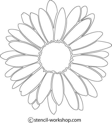 free printable flower stencil templates image detail for flower stencil free flower