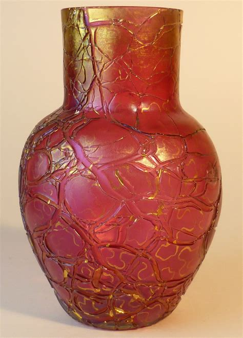 Pink Crackle Glass Vase by Nouveau Pink Crackle Kralik Vase Collectors Weekly