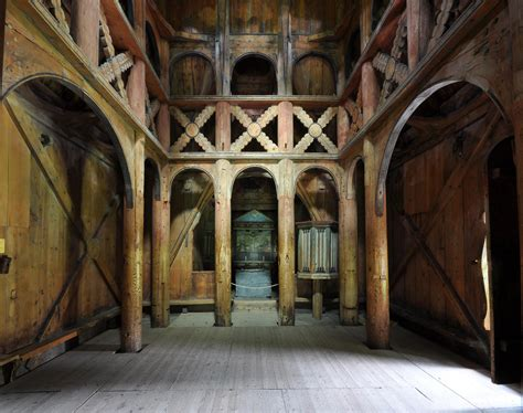 Church Interior by Stave Churches Thirty Two Minutes
