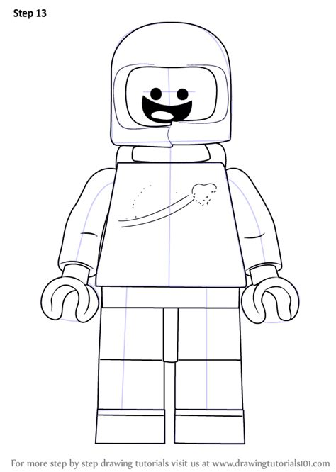 tutorial lego movie step by step how to draw benny from the lego movie