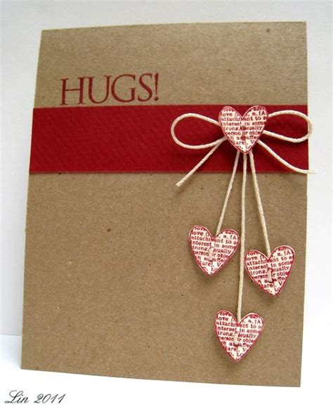 Handmade Card Idea - adorable valentines day handmade card ideas pink lover
