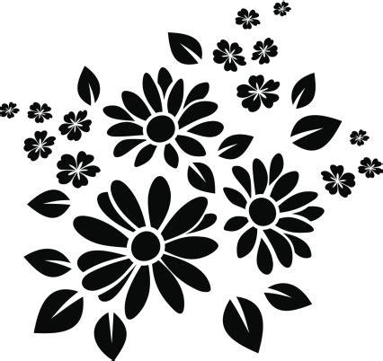 silhouette tattoo paper uk black silhouette of flowers vector illustration vector art