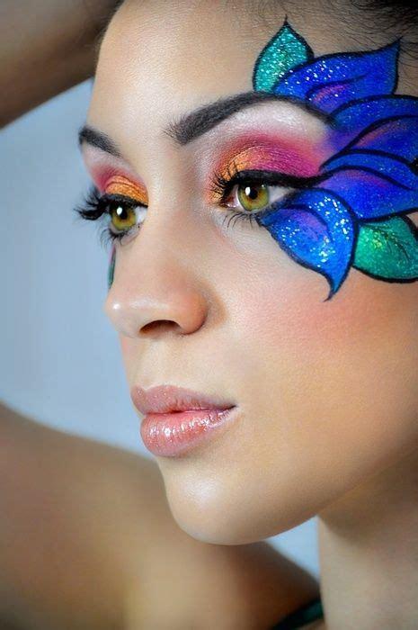 flower makeup painting flower eye makeup costumes themed makeup