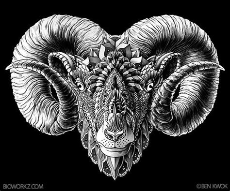 ram head tattoo designs ram design on behance illustration