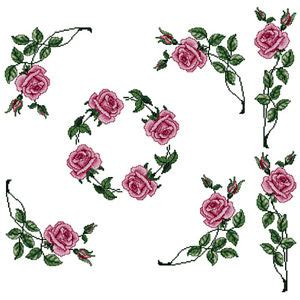 rose pattern font abc designs roses 5 machine cross stitch embroidery
