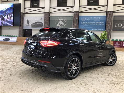 levante maserati black maserati and larte design showcase levante model