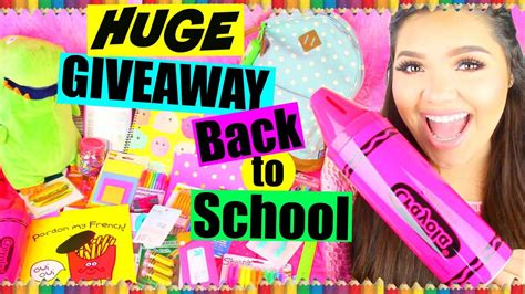 Karina Garcia Giveaway - huge back to school supplies haul giveaway over 150 worth closed youtube
