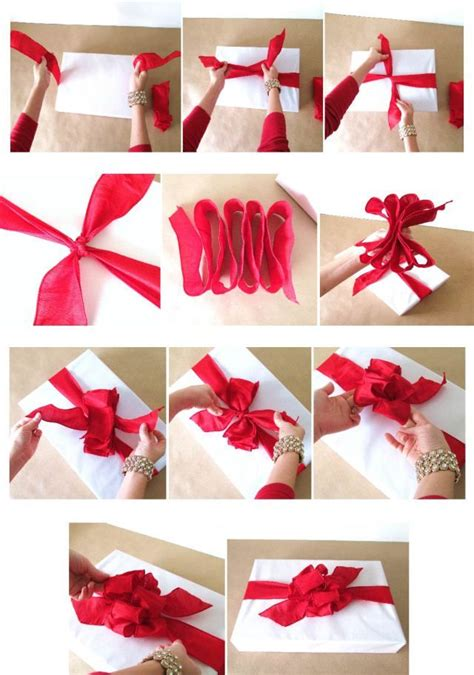 How To Make Bows Out Of Wrapping Paper - best 25 how to tie ribbon ideas on gift wrap
