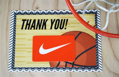 Where Can I Buy A Nike Gift Card - free printable this basketball gift is a slam dunk gcg