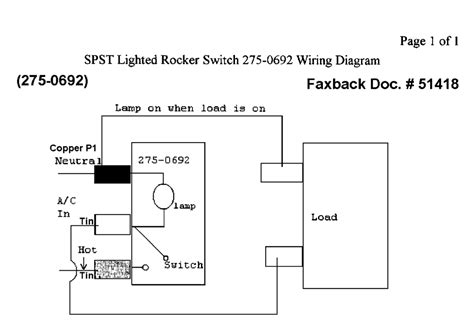 lighted rocker switch wiring diagram with toggle to