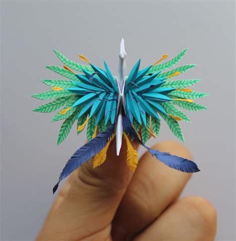 Folding 1000 Paper Cranes - cristian marianciuc creates a new decorated origami paper