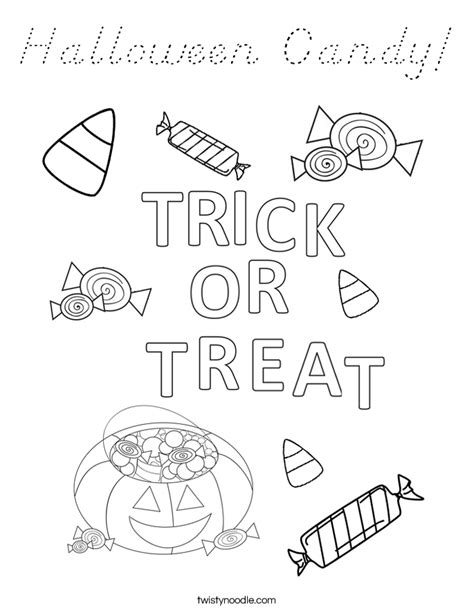 halloween alphabet coloring pages halloween candy coloring page d nealian twisty noodle